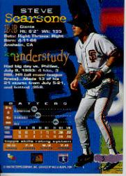 1994 Stadium Club Golden Rainbow #3 Steve Scarsone back image
