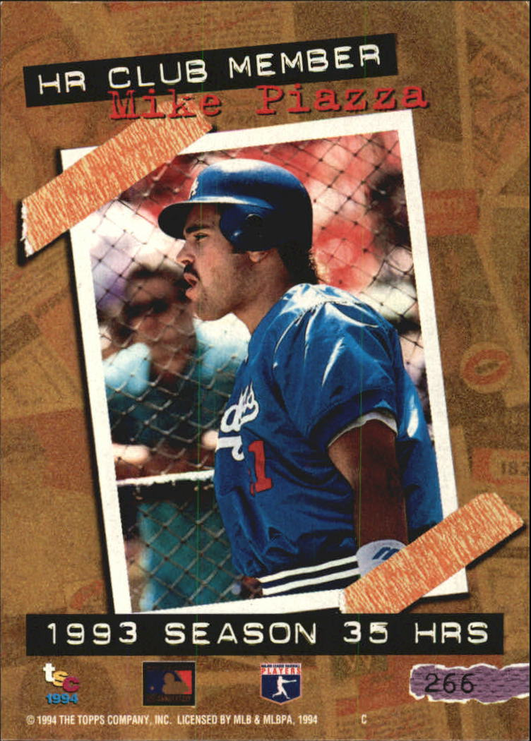 1994 Stadium Club Golden Rainbow #266 Mike Piazza HR