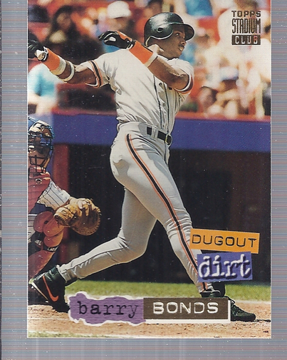 1994 Stadium Club Dugout Dirt #DD6 Barry Bonds