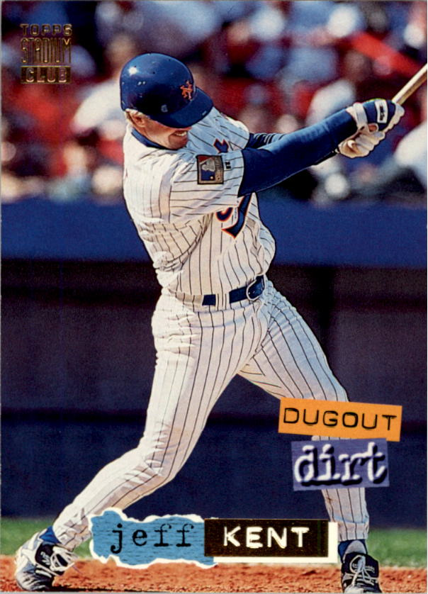 1994 Stadium Club Dugout Dirt #DD10 Jeff Kent