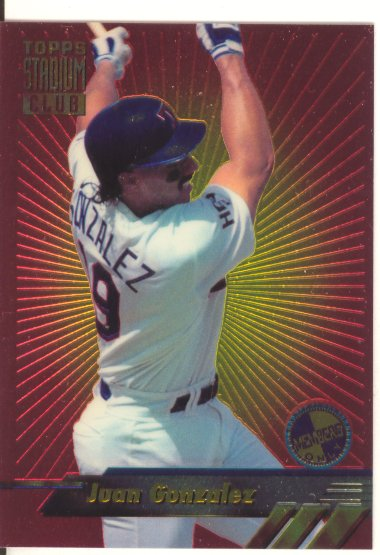 1994 Stadium Club Finest #F4 Juan Gonzalez