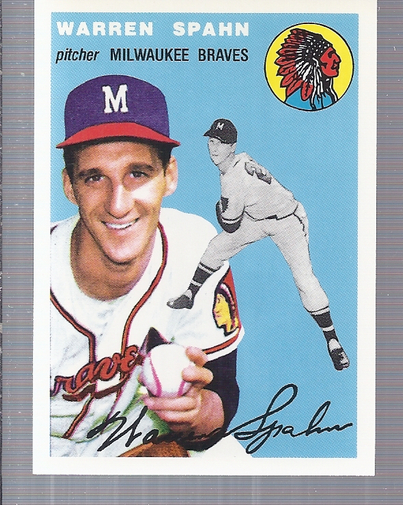1994 Topps Archives 1954 #20 Warren Spahn