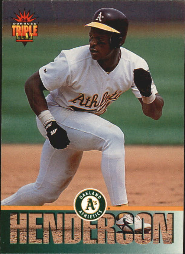 1994 Triple Play #4 Rickey Henderson