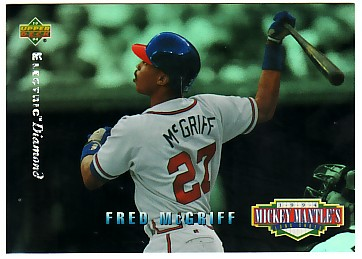 1994 Upper Deck Mantle's Long Shots Electric Diamond #MM12 Fred McGriff