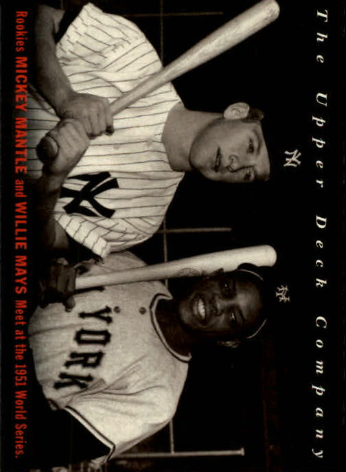 1994 Upper Deck All-Time Heroes #10 W.Mays/M.Mantle OW