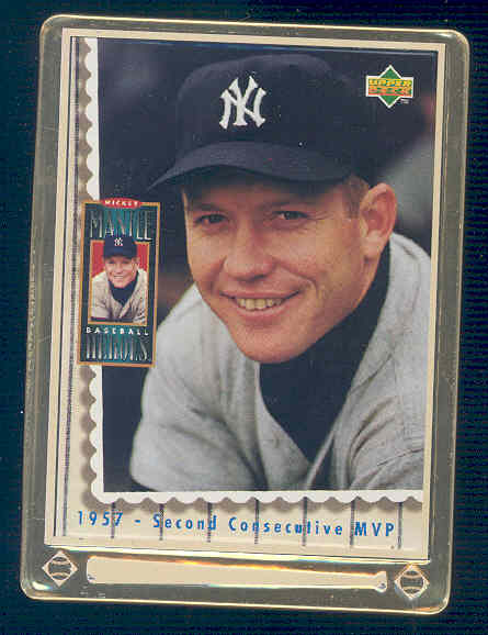 1995 Upper Deck Mantle Metallic Impressions #5 Mickey Mantle/1957 Second Consecutive MVP