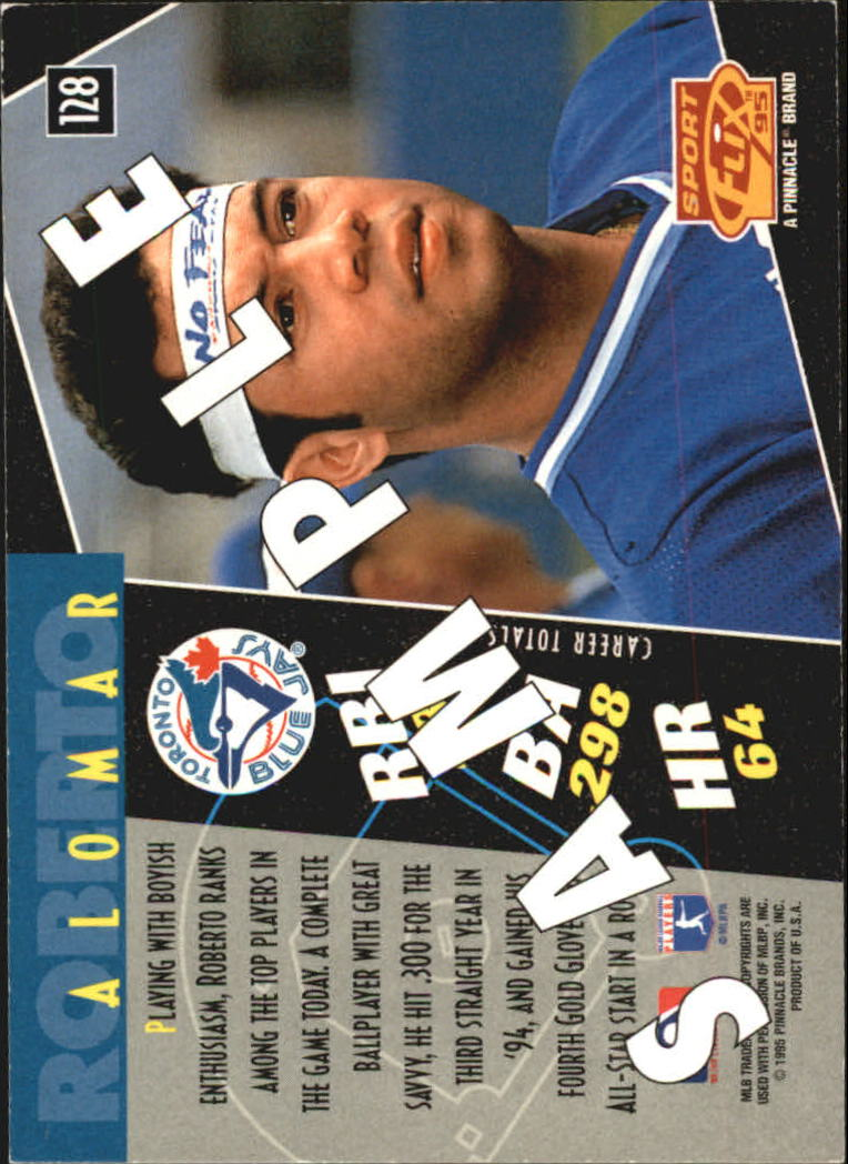 1995 Sportflix Samples #128 Roberto Alomar