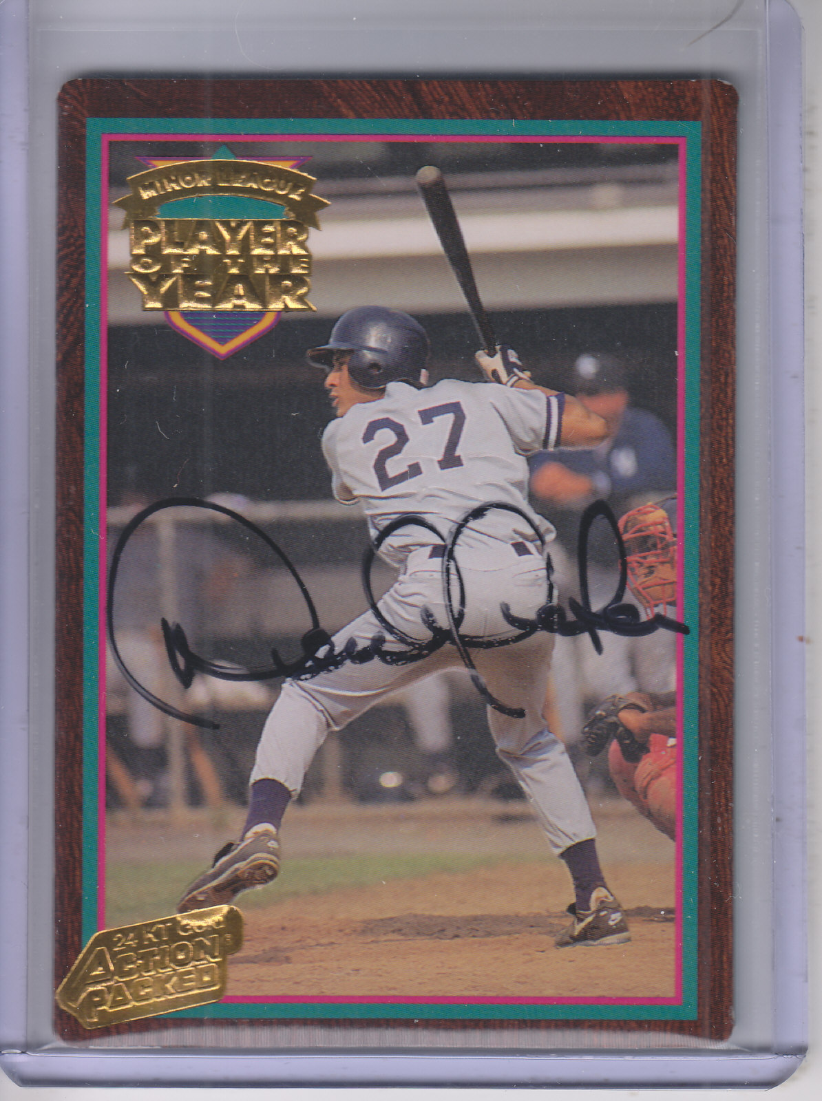 1995 Action Packed 24K Gold #1A Derek Jeter AU