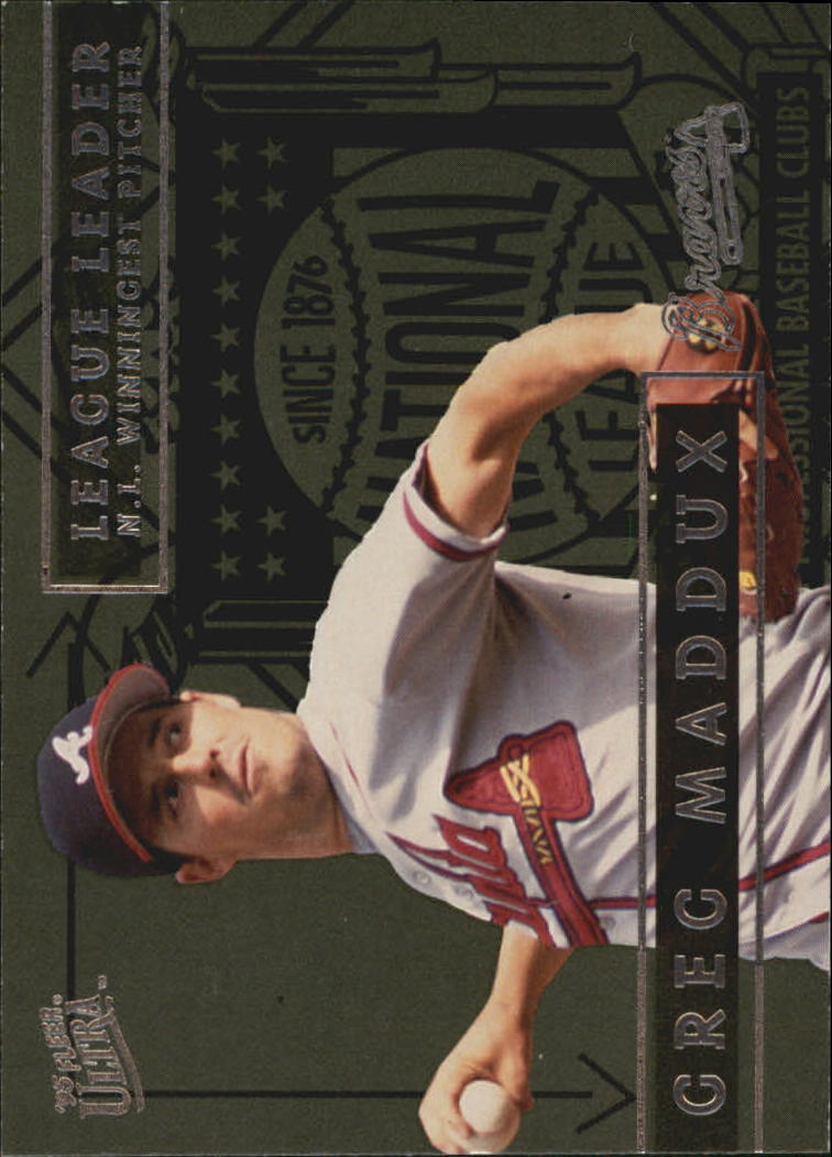 1995 Ultra League Leaders #8 Greg Maddux