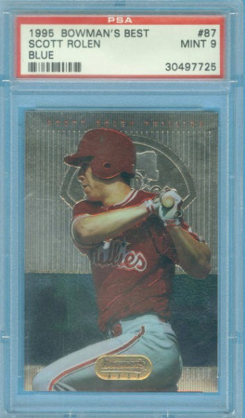 1995 Bowman's Best #B87 Scott Rolen RC