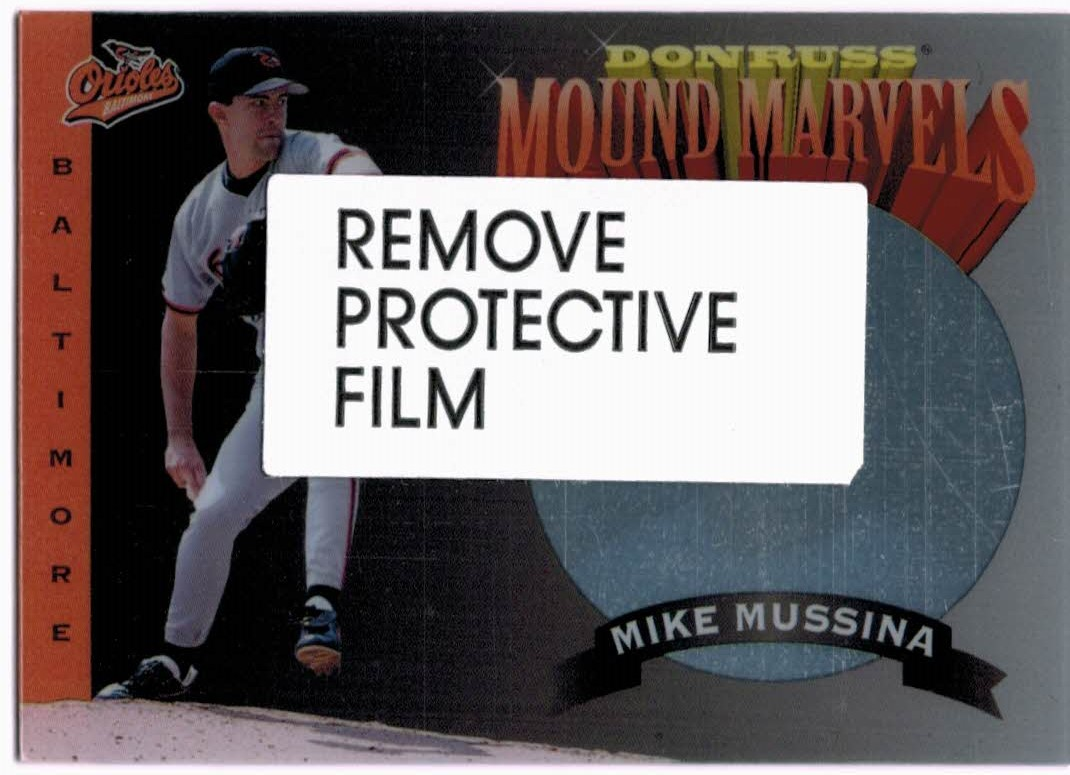 1995 Donruss Mound Marvels #3 Mike Mussina