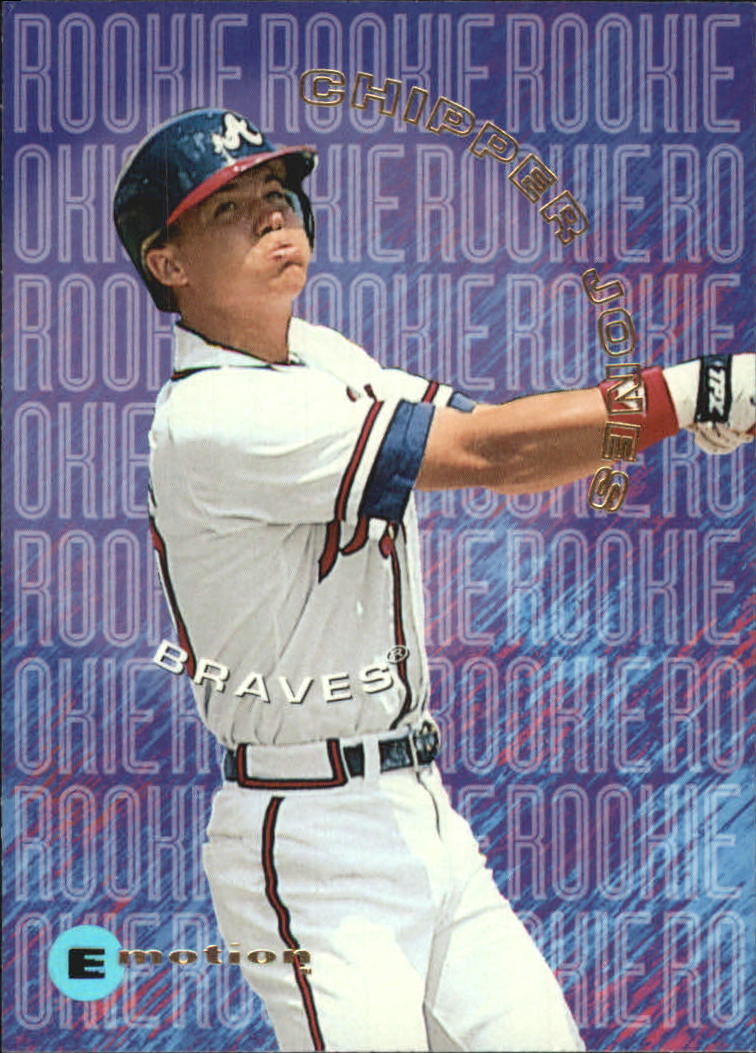 1995 Emotion Rookies #8 Chipper Jones