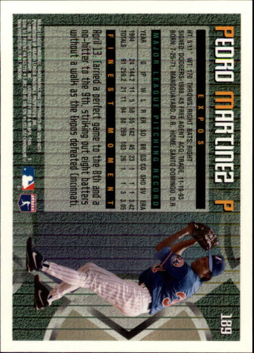 1995 Finest #189 Pedro Martinez