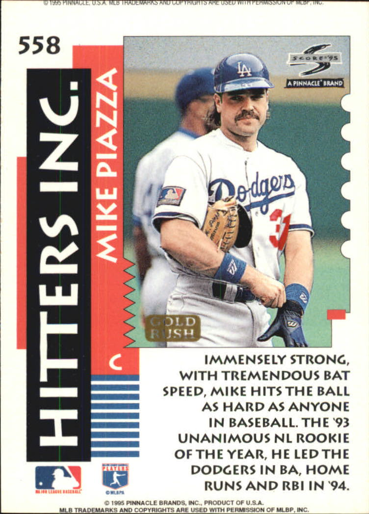 1995 Score Gold Rush #558 Mike Piazza HIT back image