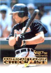 1995 Select Certified Checklists #3 Cal Ripken
