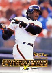1995 Select Certified Checklists #6 Barry Bonds