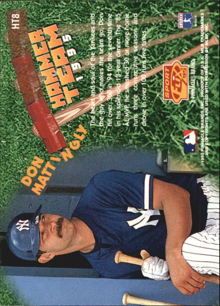 1995 Sportflix Hammer Team #HT8 Don Mattingly back image