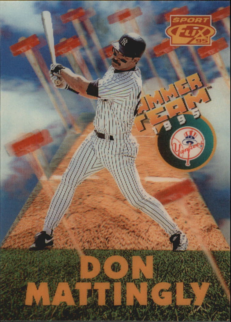 1995 Sportflix Hammer Team #HT8 Don Mattingly front image