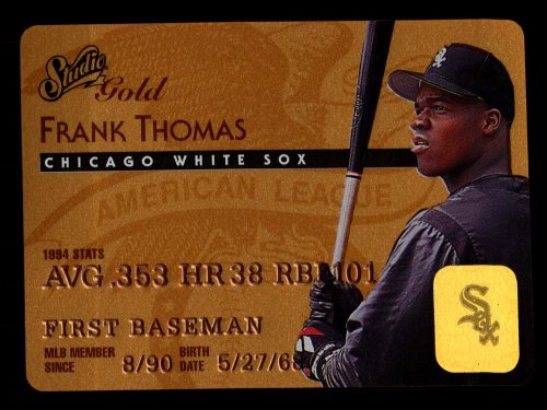 1995 Studio Gold Series #1 Frank Thomas