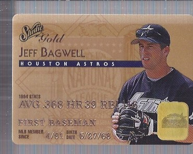 1995 Studio Gold Series #2 Jeff Bagwell