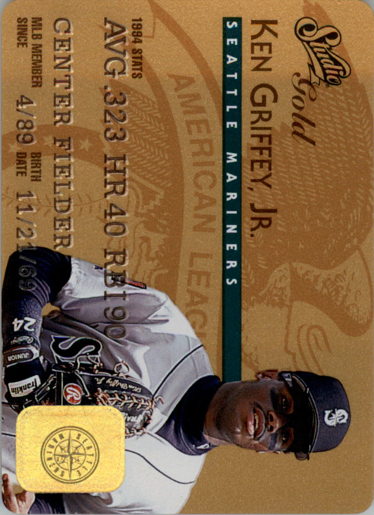1995 Studio Gold Series #5 Ken Griffey Jr.