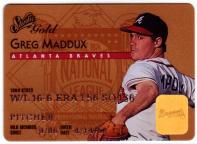 1995 Studio Gold Series #6 Greg Maddux
