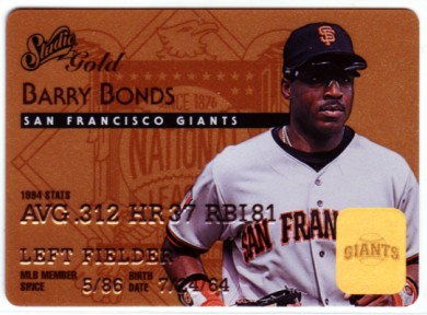 1995 Studio Gold Series #7 Barry Bonds