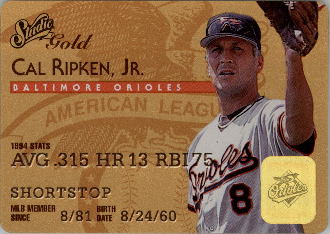 1995 Studio Gold Series #8 Cal Ripken
