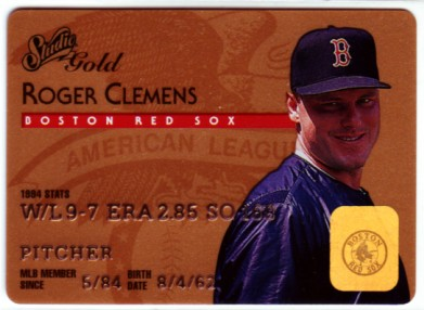 1995 Studio Gold Series #16 Roger Clemens