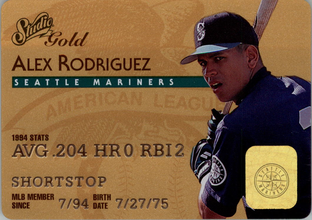 1995 Studio Gold Series #18 Alex Rodriguez