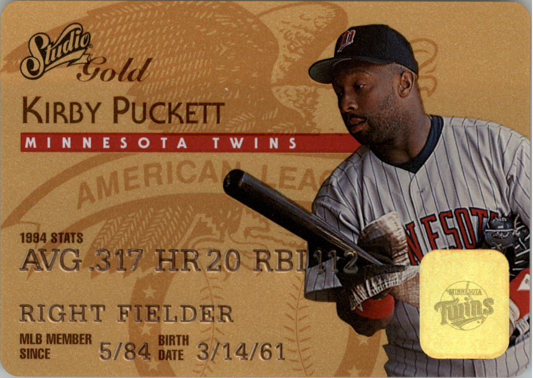 1995 Studio Gold Series #22 Kirby Puckett