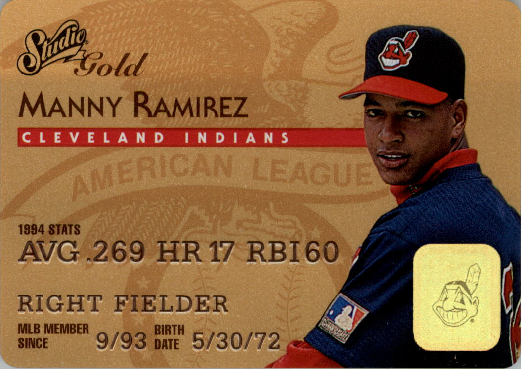 1995 Studio Gold Series #32 Manny Ramirez
