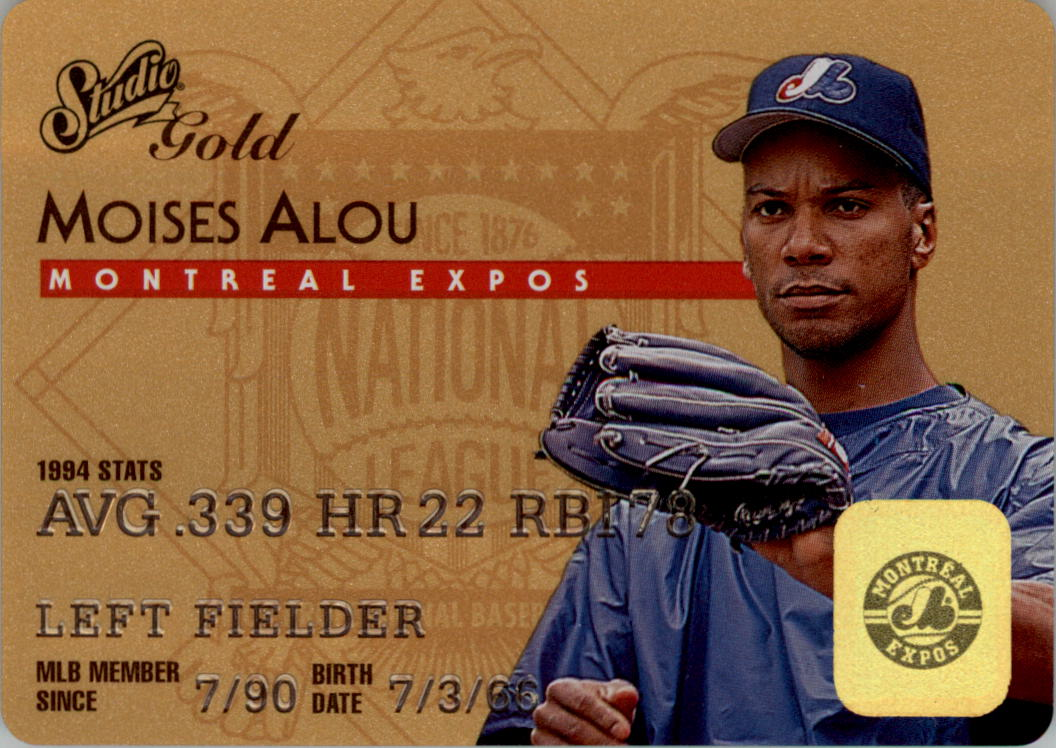1995 Studio Gold Series #35 Moises Alou