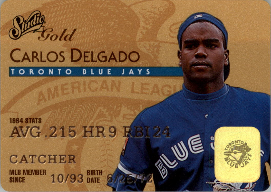 1995 Studio Gold Series #43 Carlos Delgado