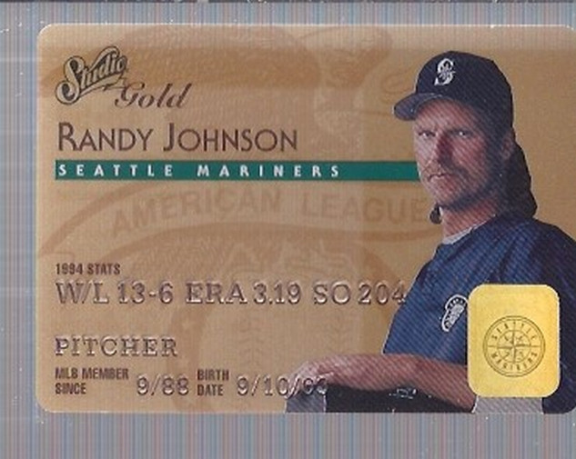 1995 Studio Gold Series #48 Randy Johnson