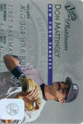 1995 Studio Platinum Series #3 Don Mattingly