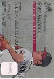 1995 Studio Platinum Series #6 Greg Maddux