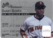 1995 Studio Platinum Series #7 Barry Bonds front image