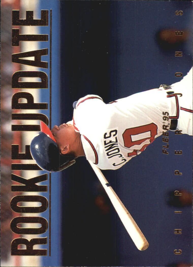 1995 Fleer Update Rookie Update #5 Chipper Jones