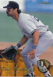 1995 Fleer Update Smooth Leather #7 Don Mattingly
