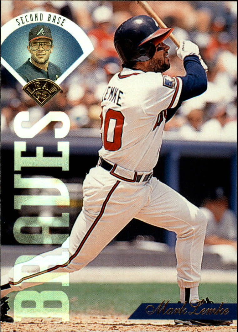 1995 Leaf #174 Mark Lemke