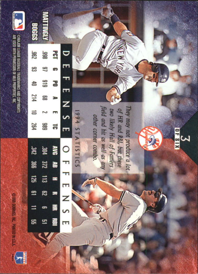 1995 Leaf Cornerstones #3 D.Mattingly/W.Boggs back image