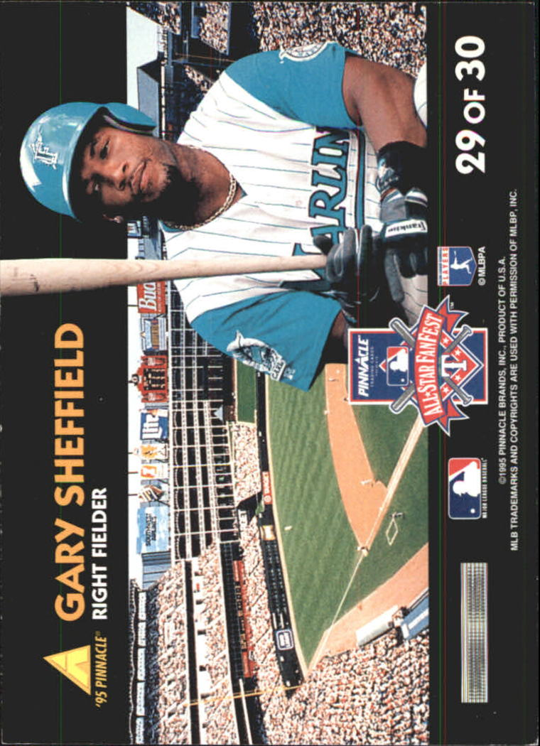 1995 Pinnacle FanFest #29 Gary Sheffield back image