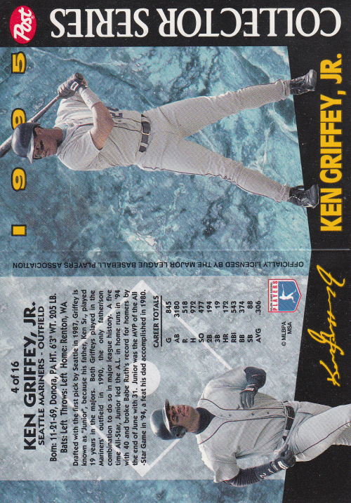 1995 Post #4 Ken Griffey Jr.