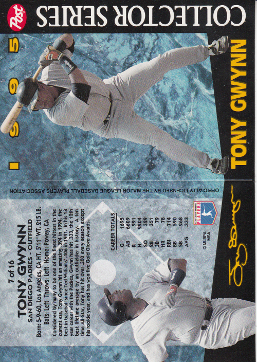 1995 Post #7 Tony Gwynn