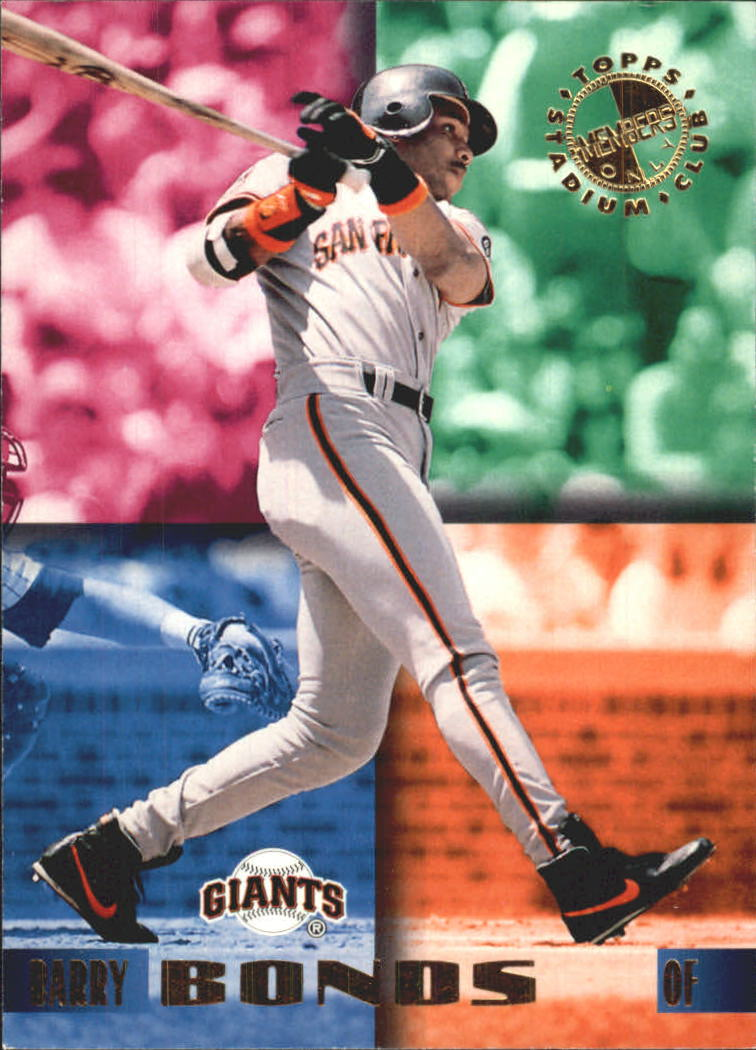 1995 Stadium Club Members Only 50 #8 Barry Bonds