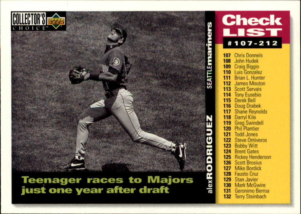 1995 Collector's Choice #527 Alex Rodriguez CL