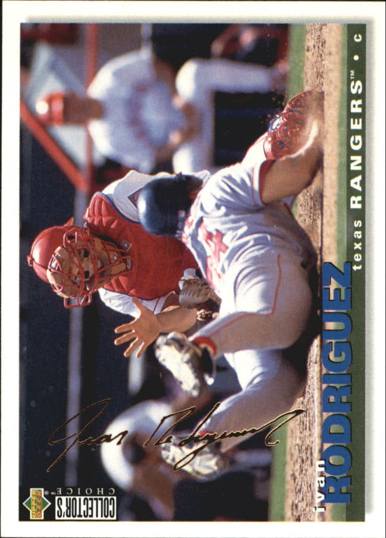 1995 Collector's Choice Gold Signature #391 Ivan Rodriguez