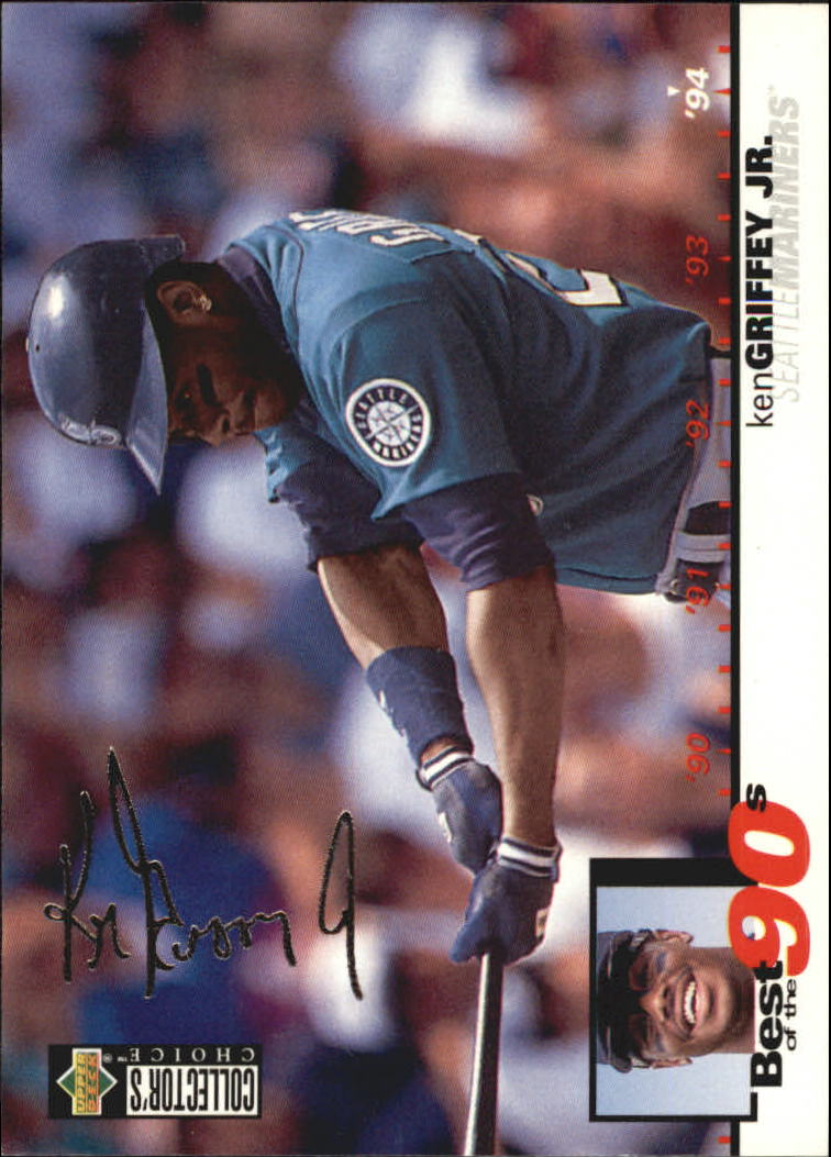 1995 Collector's Choice Silver Signature #62 Ken Griffey Jr. B90