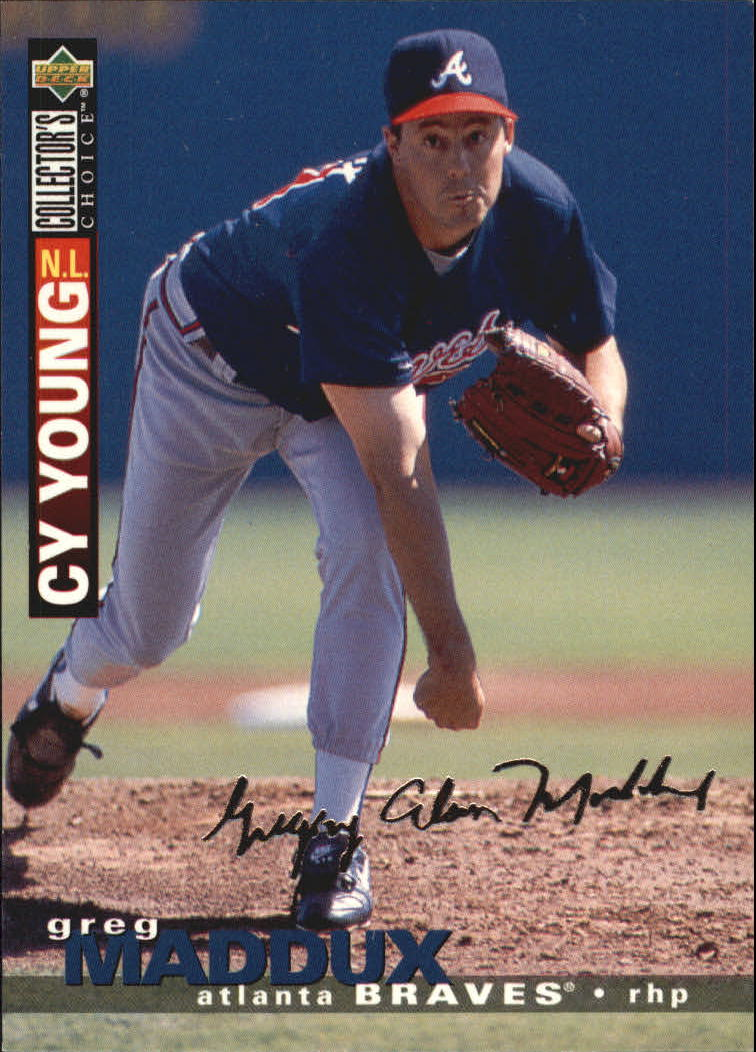 1995 Collector's Choice Silver Signature #67 Greg Maddux